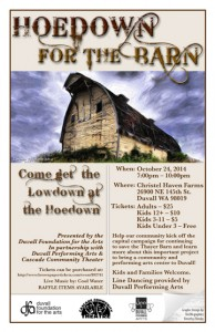 Hoedown for the Barn Poster 10 17 2014 FB